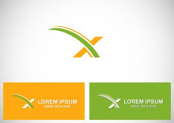 letter x loop company logo