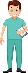 cute Nurse man cartoon