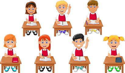 funny students cartoon learning