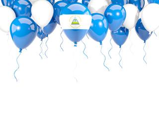 Flag of nicaragua on balloons