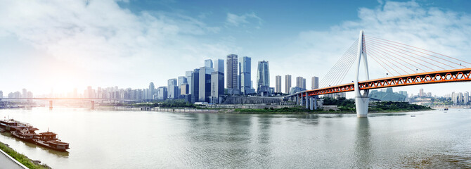 China 's Chongqing city skyline Wall mural