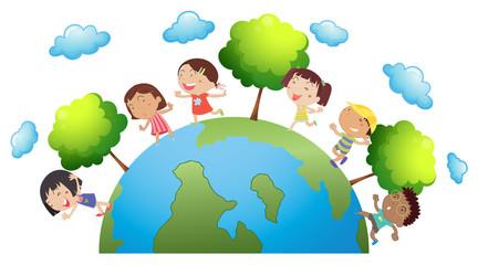 Happy children around the world