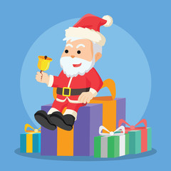 santa sitting on christmas box