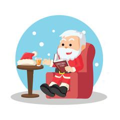santa reading christmas story