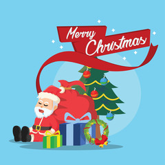 merry christmas illustration design