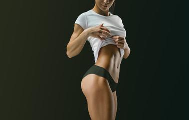 Fitness female body shape