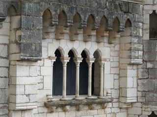 Mullioned window and arch, Romanesque church