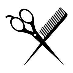 silhouette of scissors instrument icon over white background. hair saloon design. vector illustration
