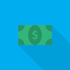 money flat icon illustration