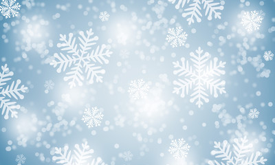 Winter snowflakes background.
