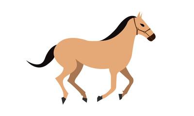 Brown Horse Running vector