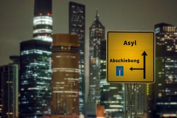 Schild 125 - Asyl