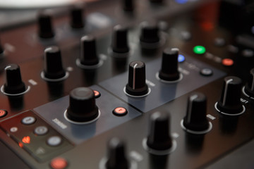 Professional hip hop scratch dj sound mixer controller