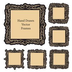 hand drawn art frames