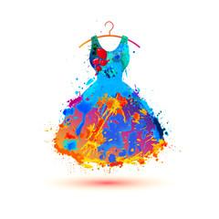 Warercolor splash paint dress