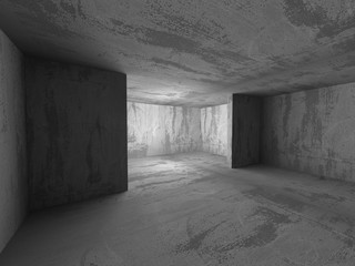 Abstract Architecture. Empty Concrete Interior Background