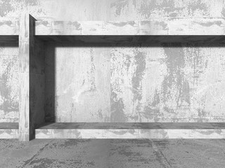 Empty concrete abstract construction. Architecture urban modern