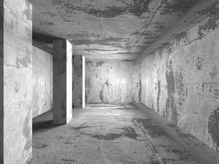 Abstract dark concrete empty room interior