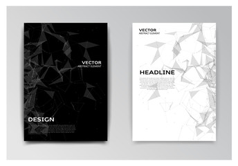 Brochure with red and black abstract elements Wall mural