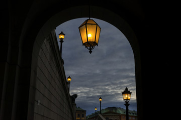 Laternengang am Königspalast, Stockholm