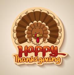 thanksgiving turkey logo design