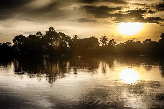 Kinabatangan river, Malaysia, rainforest of Borneo island