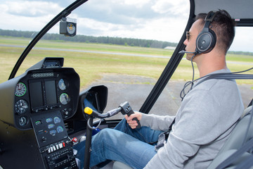 helicopter pilot flying