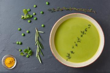 mint the pureed pea soup with mint recipes dishmaps pureed pea soup ...