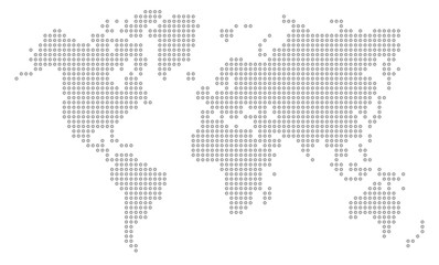 Dot world map