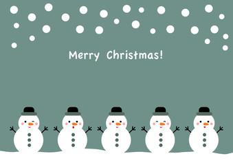 Merry Christmas 雪だるま イラスト