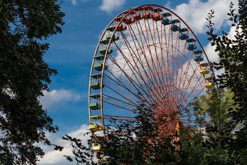 Riesenrad im Freizeitpark - Detailaufnahme