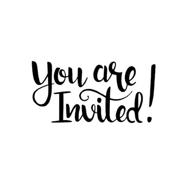 You are invited handwritten lettering