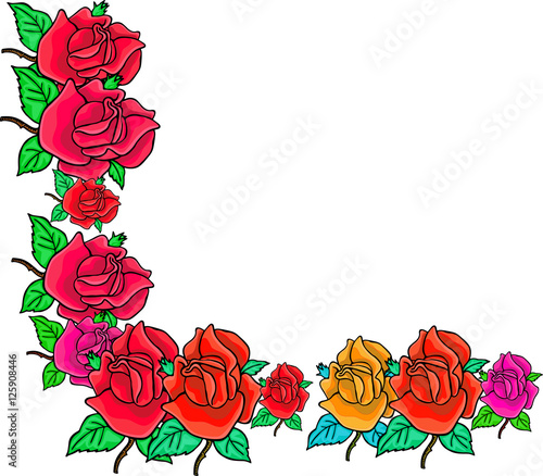 A simple and pretty floral page border with blank copy space stock a simple and pretty floral page border with blank copy space mightylinksfo