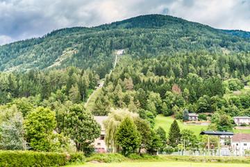 Pipeline und Pumpenwerk in Obervellach Kärnten Österreich