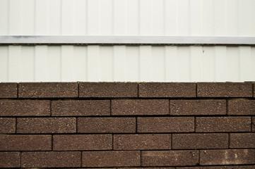 brick and metal fence horizontal