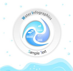 blue water infographics