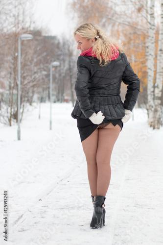 Sexy pantyhose skirt
