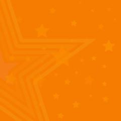 Stars abstract background. Stars on orange background. Abstract vector illustration.