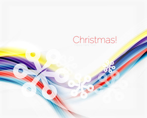 Christmas wave abstract background