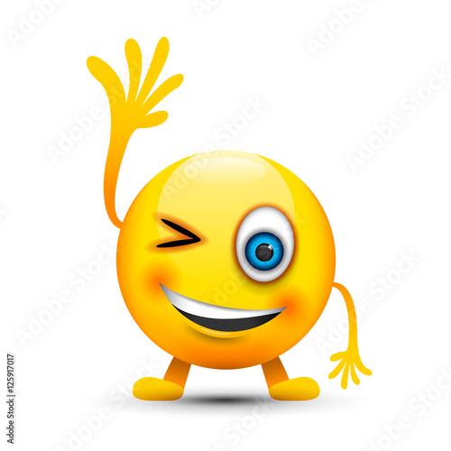 Winking tongue out emoji