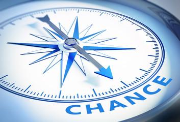 Weißer Kompass - Chance