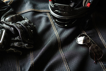 Outfit of Biker and accessories