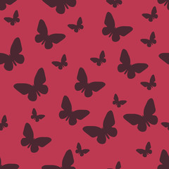 Butterfly pattern. Vector seamless pattern. Repeating background