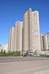 Modern residential building in Astana, capital of Kazakhstan