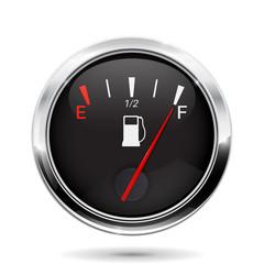 Fuel gauge. Full tank indication