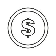 coins money dollar isolated icon vector illustration design