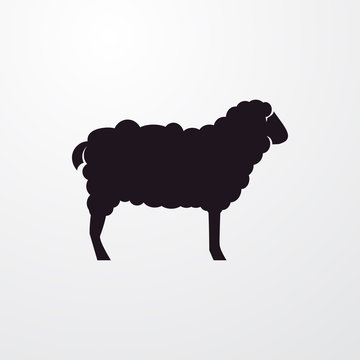 sheep icon illustration