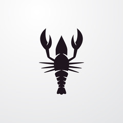 lobster icon illustration