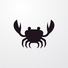 crab icon illustration