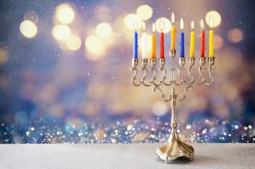 Image of jewish holiday Hanukkah background